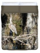 Heron In Everglades Duvet Cover