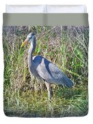 Heron In The Wetlands Duvet Cover