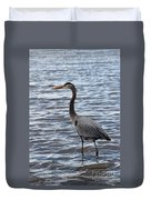 Heron On  Lake Guntersville Duvet Cover