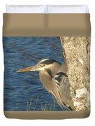 Heron On My Doorstep Duvet Cover