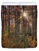Heron Pond Cypress Trees Duvet Cover