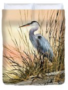 Heron Sunset Duvet Cover by James Williamson