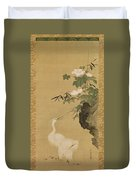Herons And Cotton Roses Duvet Cover