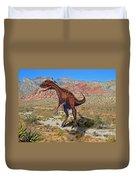 Herrarsaurus In Desert Duvet Cover