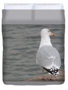 Herring Gull Observing Duvet Cover