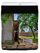 Herr's Mill And Covered Bridge 2 Duvet Cover