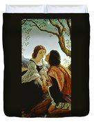 Hesperus The Evening Star Sacred To Lovers Duvet Cover by Sir Joseph Noel Paton