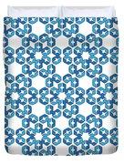 Hexagonal Snowflake Pattern Duvet Cover