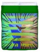 Hexagram-57-xun-penetrating-wind- Duvet Cover