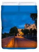 Hexham Abbey At Night Duvet Cover