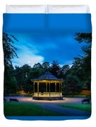 Hexham Bandstand At Night Duvet Cover
