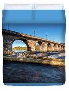 Hexham Bridge And Fish Pass Duvet Cover