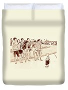 Hey Baby We Sing For You Duvet Cover