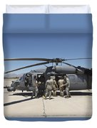 Hh-60g Pave Hawk With Pararescuemen Duvet Cover