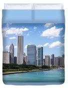 Hi-res Picture Of Chicago Skyline And Lake Michigan Duvet Cover