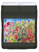 Hibiscus And Friends Duvet Cover