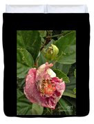 Hibiscus Bloom Closed In The Rain   End View      May           Indiana      Duvet Cover