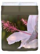Hibiscus Bloom Pastel Duvet Cover