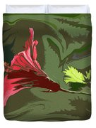 Hibiscus Dark And Light Photopainting 1 Duvet Cover