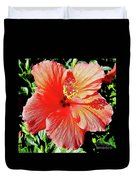 Hibiscus - Dew Covered - Beauty Duvet Cover