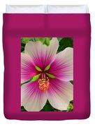 Hibiscus Face Duvet Cover