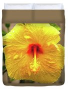 Hibiscus Flower After The Rain Duvet Cover