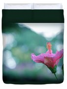Hibiscus Flower In A Garden Duvet Cover