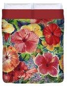 Hibiscus Impressions Duvet Cover