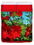 Hibiscus In Naptown Duvet Cover