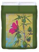 Hibiscus On Brick Duvet Cover