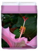 Hibiscus Pink Flower Duvet Cover