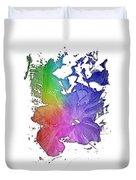 Hibiscus S D Z 2 Cool Rainbow 3 Dimensional Duvet Cover