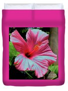 Hibiscus With A Solarize Effect Duvet Cover