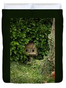 Hidden Birdhouse Duvet Cover