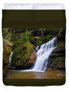 Hidden Hocking Hills Waterfall Ohio Duvet Cover
