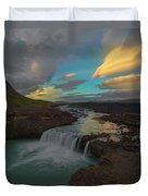 Hidden Icelandic Waterfall Duvet Cover