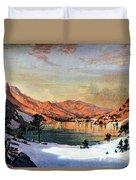 Hidden Lake Western United States Duvet Cover