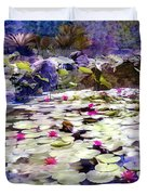 Hidden Pond Lotusland Duvet Cover
