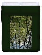 Hidden Pond Natural Fence Duvet Cover