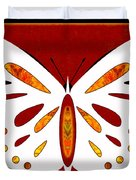 Hidden Possibilities And Abstract Butterflies By Omashte Duvet Cover