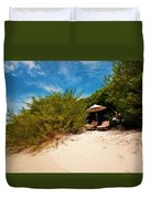 Hideaway. Maldivian Beach Duvet Cover by Jenny Rainbow