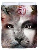 Hiding Catlady Duvet Cover
