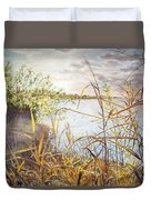 Hieroglyph Of Shining Autumn Duvet Cover