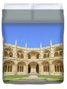 Hieronymites Monastery Courtyard Duvet Cover