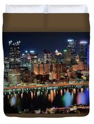 High Above Pittsburgh Duvet Cover