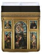 High Altarpiece S Alessandro Brescia Duvet Cover