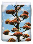 High Country Red Bud Agave Duvet Cover