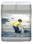High Country Snow Girl Duvet Cover
