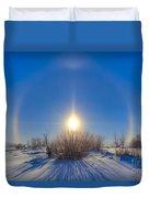 High Dynamic Range Photo Of Sundogs Duvet Cover