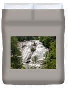 High Falls At Dupont Forest Duvet Cover